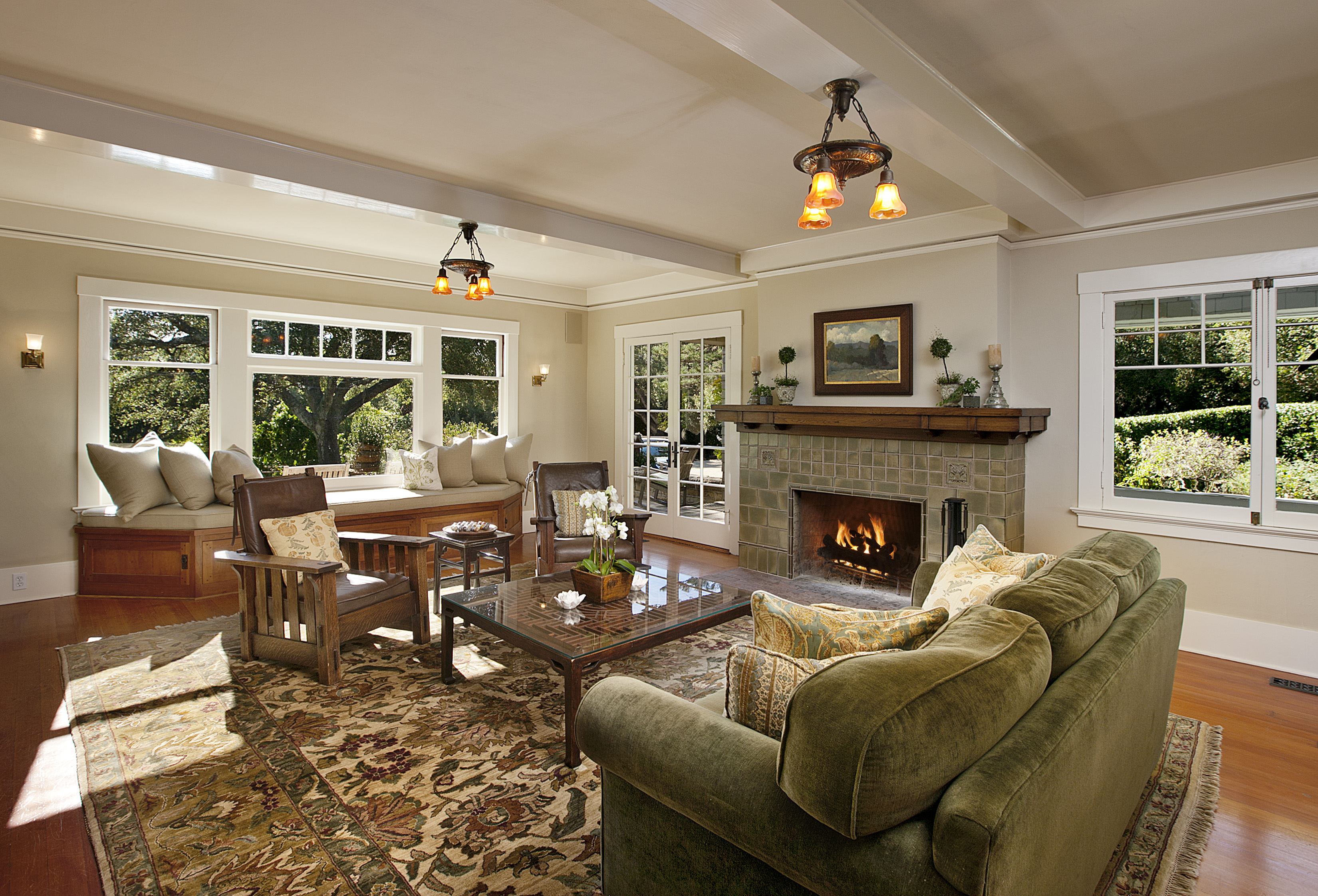 Popular home styles for 2012 montecito real estate Inside house living room