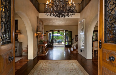 Mediterranean home montecito 4 entry way
