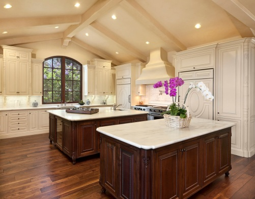 all white montecito kitchen
