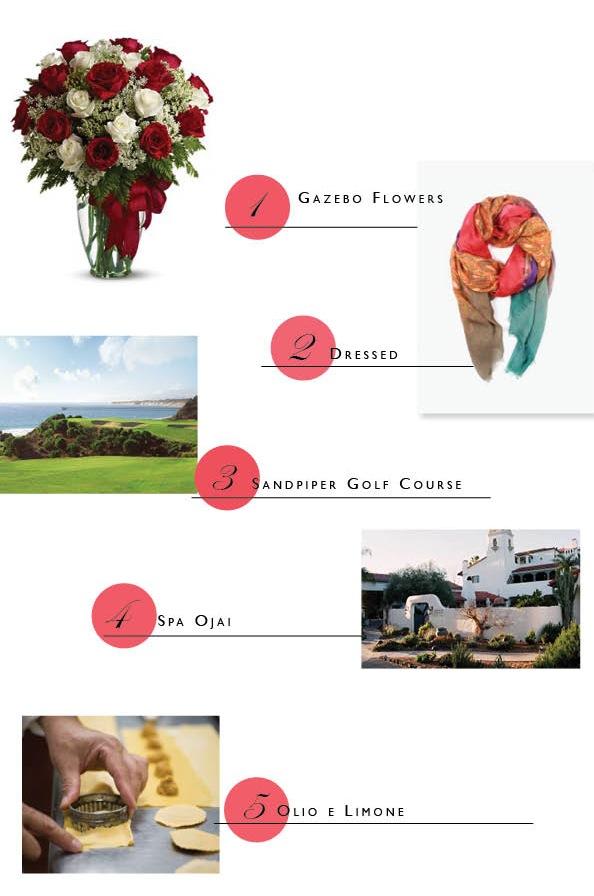 Valentines day gifts bouquet santa barbara montecito