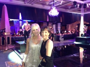 Dina Landi and Rebecca Riskin of Riskin Associates support the PPF at the Royal Ball.