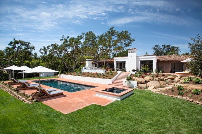 A spanish hacienda in Montecito