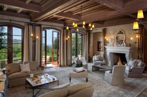 a Montecito estate's formal living room