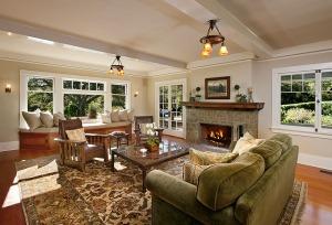 A craftsman living room in Montecito