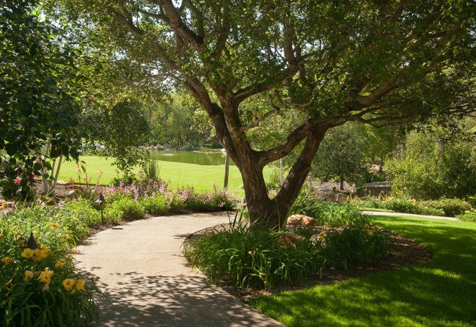 Park-like grounds at a Montecito estate