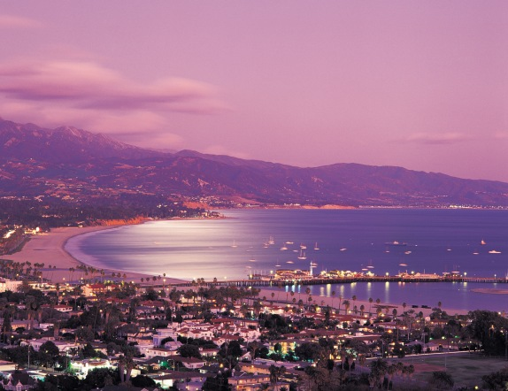 Beautiful Santa Barbara sunset coastline