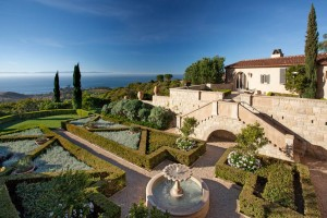 State-of-the-art home secuirty systems protect this fabulous Italian Villa in Montecito.