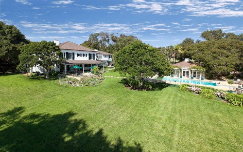 A property new on the Hope Ranch market, this exquisite estate encompasses 8 magnificent acres.